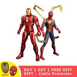 $enCountryForm.capitalKeyWord Australia - Super Hero Action Figure Iron Man And Spider Man End Game Avengers Cartoon Toy PVC Collectible Models Toys Gift For Children #E