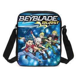 blue black beyblade Australia - Brand Small Crossbody Bags For Boys Girls Cartoon Beyblade Burst Letter 3D Printing Messenger Bags Casual Sling Bags Sac A