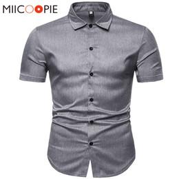 Court Shirts Australia - Summer Luxury Short Sleeve Shirts Men Dress Business Slim Fit Formal Shirts For Men New Chemise Homme Manche Court Camisas S-XXL
