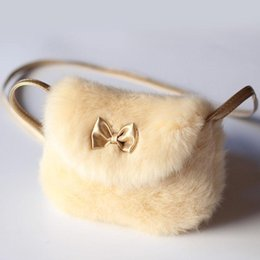 $enCountryForm.capitalKeyWord Australia - New Cute Children Princess Girl Kids Mini Cross body Bag Fashion Bowknot Imitation Fur Shoulder Messenger Bag Purse