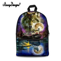 girl laptop satchel 2019 - School Bags For Teenager Girls Galaxy Wolf Prints Children Schoolbag Large Capacity Laptop Backpack Kids Bag Satchel Tra