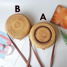 $enCountryForm.capitalKeyWord NZ - 2019 Fashion Women Summer Rattan Shoulder Bag Round Straw Bags Handmade Woven Beach Circle Cross Body Bag Bohemia Handbag #40 Y19061301