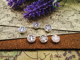 spacer crosses Australia - 75pcs--15mm Jesus Cross Round Spacer Beads Charms Tibetan Silver Plated Pendants Antique Jewelry Making DIY Handmade