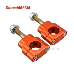 cnc clamps Australia - 28mm Billet CNC Handlebar Handle Bar Mount Clamp Holder Riser ATV Bike M12 Bolt ORANGE