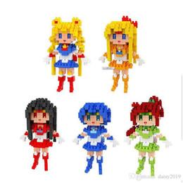 $enCountryForm.capitalKeyWord UK - Anime Sailor Moon Venus Jupiter Sailor Girls BOYU Diamond Small Toys Gift for Girls Lozard Toy