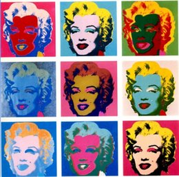 $enCountryForm.capitalKeyWord NZ - Andy Warhol Marilyn Monroe Handpainted & HD Print famous Abstract Portrait Art oil painting,Wall Art Home Decor On High Quality Canvas p417