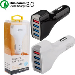 Chinese brand gps online shopping - Car charger A QC Quick Charger Fast Charge usb ports Car charger for ipad iphone samsung android phone gps pc with retail package