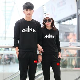 Dancing sweaters online shopping - Tide Autumn Square All match Dance Comfortable Men And Women Pure Cotton Sweater Leisure Time Athletic Wear Lovers Suit