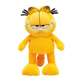garfield toys UK - 1pc 80-20cm Plush Garfield Cat Plush Stuffed Toy Doll High Quality Soft Plush Figure gift for children Doll Free Shipping