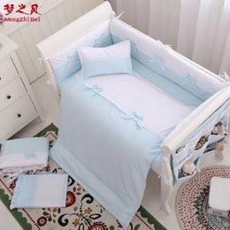 Friendly 6pcs Cartoon Baby Bedding Sets Baby Crib Bumpers Bed Around Cot Bed Sheets 100%cotton Thickening Customizable Baby Beddings Bumpers Baby Bedding