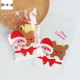 $enCountryForm.capitalKeyWord Australia - 25 pcs lot 10 X 15 +3 cm Santa Claus adhesive cookies diy Gift for Christmas New Year Party Candy Food Packaging bag C18112701