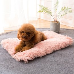 large pet blankets Australia - Winter Dog Bed Mat Soft Fleece Pet Cushion House Warm Puppy Cat Sleeping Bed Blanket For Small Medium Large Dogs Cats Kennel