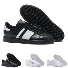 black punk shoes UK - 2019 New Arrival Superstar Shoes Running Classic Mens And Women Superstars Best Selling Sneakers Skateboarding Black Casual Shoes