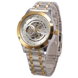 Watches Cases Sale UK - Creative Mechanical Watch Stainless Steel Case Exquisite Band Fashion Trendy Waterproof Casual Wrist Watch HOT SALE