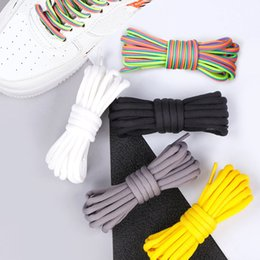Wholesale 1Pair Cm Casual Solid Round Long Shoe Laces Classic Shoelaces Summer New Purple Sneakers Unisex Sports Elastic Shoelaces Hot