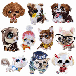 $enCountryForm.capitalKeyWord NZ - Dog Embroidery Patches Puppy Clothing Sticker Applique Iron On Embroidery Patches Badge DIY Handwork Sticker Decoration
