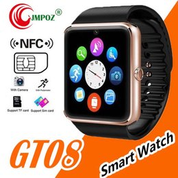 smart watches for iphone Australia - GT08 Bluetooth Smart Watch with SIM Card Slot and TF Health Watchs for Android Samsung and IOS Apple iphone Bracelet Smartwatch MQ50