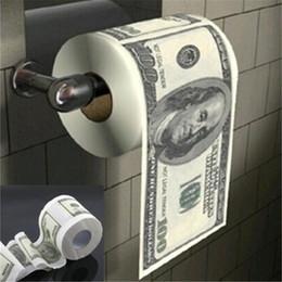 Ingrosso Donald Trump $ 100 Dollari toilet humour Bill carta igienica Dump Rotolo di carta della novità del bavaglio regalo Trump divertente Gag regalo caldo