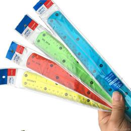 $enCountryForm.capitalKeyWord NZ - wholesale 20cm Soft Ruler PVC transparent folding Multicolour Flexible Creative Stationery Rule Office School supplies