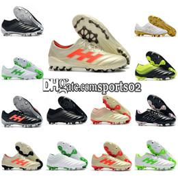 d13f6b9b261 Discount copa football boots - Mens Soccer cleats Copa 19.1 FG soccer  shroes Black White Gold