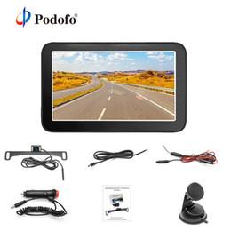 "car wireless reversing cameras 2019 - Podofo 5"" TFT LCD Rearview Monitor Mini Wireless Backup Camera Kit IP 68 License Plate Reverse Rear View Back Up Ca"