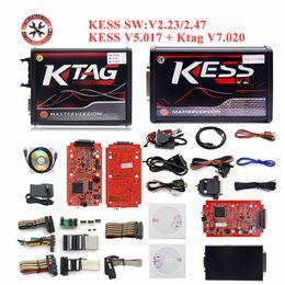 Ecu Programmer Kit Australia - 2019 Newest Online V2.47 EU Red Kess V5.017 OBD2 Manager Tuning Kit KTAG V7.020 4 LED V2 5.017 ECU Programmer Unlimited