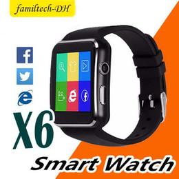 "$enCountryForm.capitalKeyWord Australia - New Bluetooth Watch X6 Smartwatch Sport Watch 1.54"" Curved Screen Clock Support Camera SIM Card For Android phone"