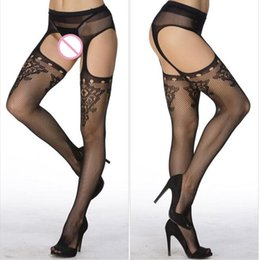 sexy hose women 2019 - Sexy Women Lingerie Stockings Lace Top Garter Belt Stockings Thigh High Finshet Female Pantyhose Hose Clubwear discount