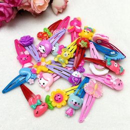 Wholesale Cartoon Hair Clip Baby Kids Barrettes Accessories Pink hair clip Lovely Mix color Girls Gifts Hairpins