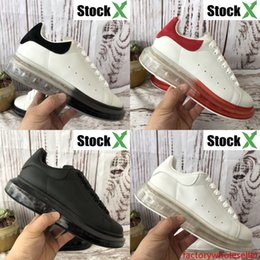 red velvet cushions Australia - Genuine leather platform Crystal Sole cushion men women casual shoes velvet suede triple black white red pink luxury mens designer sneakers