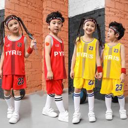 $enCountryForm.capitalKeyWord Australia - Wholesale sale American basketball 23# PYRIS super basketball star custom basketball clothing outdoor sports clothing for big children