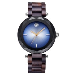 Wooden Gift Tags Australia - 2019 Newest Bamboo Wood Watch With Gem Glass Luxury All Wooden Band Quartz Woman Watch Christmas Gift