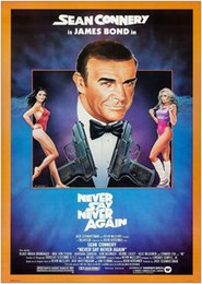 decor sayings NZ - James Bond Never Say Never Again Classic Movie Art Gifts Silk Print Decor Poster