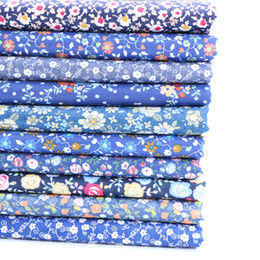 baby cotton textiles NZ - Cotton Fabric Blue Flower DIY Sewing Handmade Quilting Patchwork Cloth Tilda Baby Dress Home Textile Material Tecido Tissus