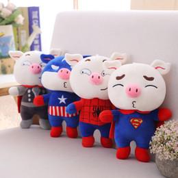 $enCountryForm.capitalKeyWord Australia - The Avengers Marvel Stuffed Doll 25CM Super Hero Spiderman iron Man Captain America Thor Pig Doll Plush Toys Gifts For Kids