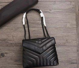 Toptan satış Tasarımcı Y omuz çanta hakiki deri kaliteli kadın çanta moda Totes loulou Y çanta bag handbags