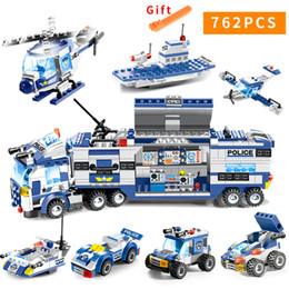 $enCountryForm.capitalKeyWord Australia - 647pcs 762pcs City Police Series Swat 8 In 1 City Police Truck Station Building Blocks Small Bricks Toy For Children Boy J190722