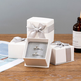 $enCountryForm.capitalKeyWord Australia - Birthday Gift Box With Bow-Tie Ring Earring Jewelry Package Box Jewelry Packaging Case Valentine's Gift Box