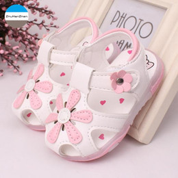$enCountryForm.capitalKeyWord Australia - 2019 Summer 1 year old baby girls sandals fashion LED lights princess non-slip shoes soft first walk infant sports shoes newborn