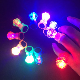 $enCountryForm.capitalKeyWord Australia - 2018 Limited 5pcs lot Led Glowing Diamond Finger Ring Novelty Flashing Light-up Toys For Kids Birthday Decoration Party Favors
