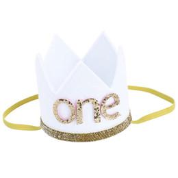 $enCountryForm.capitalKeyWord UK - Baby Boy Girl First Birthday Hat Crown Numbers Headband Tiara Party Photo Props white one