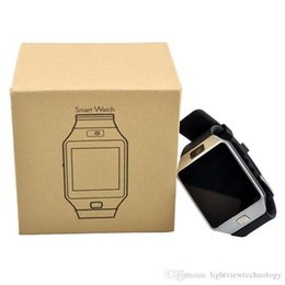 Wrist Watch Uses Sim Card Australia - DZ09 Smart Watch Support SIM TF Card Wrist Watch With Camera Anti-lost For IOS Phone Android Phone Wearable Smart Watches GT08 A1