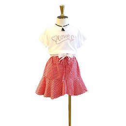 $enCountryForm.capitalKeyWord UK - 2019 new Fashion kids summer clothes girls Outfits Korean bows T shirt+Skirts kids designer clothes girls Suit Kids Sets girl clothes A5146