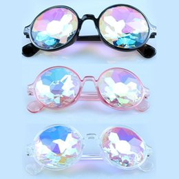 concert glasses Australia - Fashion Women Rave Festival Sunglasses Round Concert Glass Faceted Mosaic Glasses Colorful Party Celebrity Glasses
