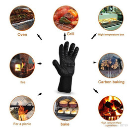 insulated bbq gloves Australia - Hot 500 Celsius Heat Resistant Gloves Great For Oven BBQ Baking Cooking Mitts In Insulated Silicone BBQ Gloves Kitchen Tastry Tools 966S