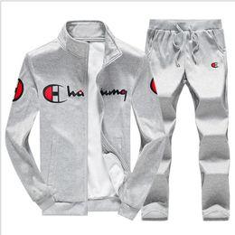 $enCountryForm.capitalKeyWord Australia - 2019 Brand Sporting Suit Men Warm Hooded Tracksuit Track Men's Sweat Suits Set Setter Print Large Size Sweatsuit Male 5
