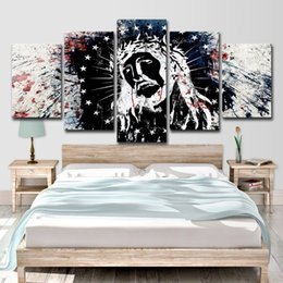 65141716bc7bd Canvas Home Decor Paintings Room Wall Art 5 Pieces Native American Indian  Poster HD Prints Feathered Abstract Pictures