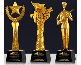 $enCountryForm.capitalKeyWord Australia - China Dream Star Warm-blooded soldier Credit Program card Gold-plated Resin small decoration trophy crafts Free engraving World Cup