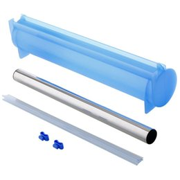 electric plastic cutter Australia - Plastic Wrap Dispenser Aluminum Foil Holder Box For Cutting Film Food Wrap Cling Film Cutter Kitchen Film Organizer Blue Kitchen Storage O