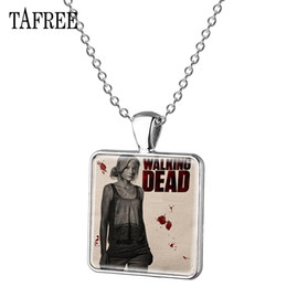 $enCountryForm.capitalKeyWord Australia - TAFREE The Walking Dead Pendant Necklace 2018 New Fashion Silver Plated Metal Choker Necklaces Statement Men Women Jewelry QF160